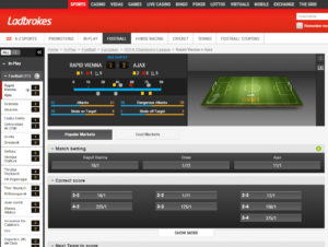ladbrokes fixed odds financial betting sites